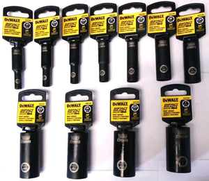 "Dewalt 11 Piece 3/8"" Drive Impact Ready Deep Socket Set"