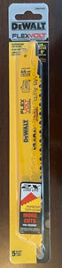 "DEWALT DWAFV496 9"" 4/6TPI FlexVolt Reciprocating Saw Blade (Pack of 5) USA"