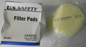 US Safety 158-D-N5 N95 Filter Pads Box of 16 USA