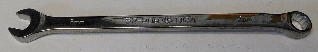 Armstrong 52-208 8mm Full Polish Long Pattern Combination Wrench 12 Point USA