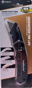 Southwire UTILQO Folding Retractable Utility Knife With On Tool Blade Storage