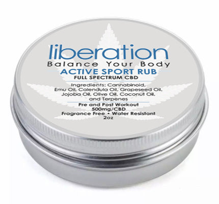Pure CBD Active Sports Rub - Liberation Products