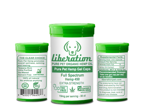 Pure Pet Hemp Oil Gel Caps