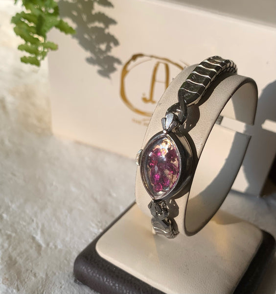 ART DECO RUBY FAIRYDUST BAND 12K WHITE GOLD