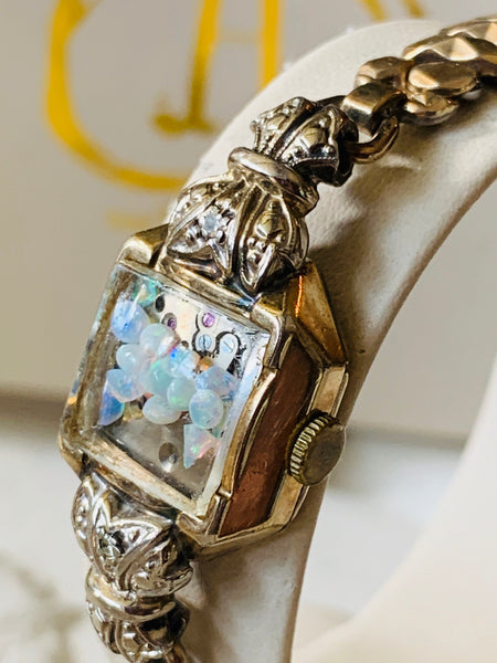 Opal and diamond fairy band