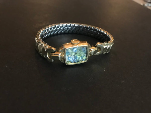 MINERAL FAIRYBAND BLUE TOPAZ AND PERIDOT