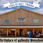 Appalachian Moonshine Destille in West Virginia Frontansicht des Gebäudes