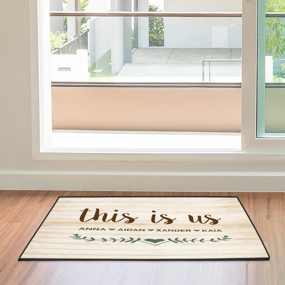 Custom Door Mat Personalized Door Mat This Is Us Mat
