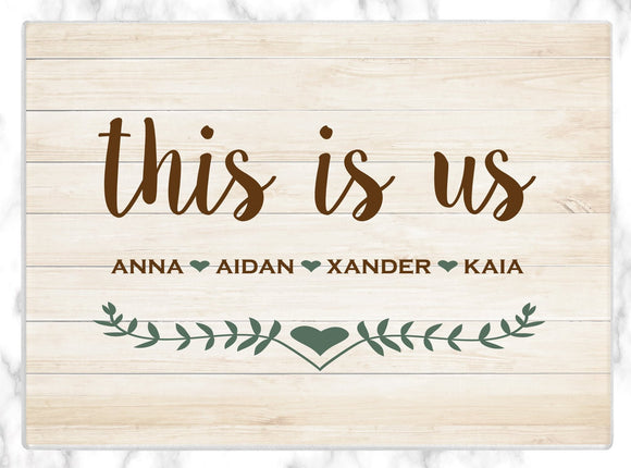 Custom Cutting Board Personalized Glass Cutting Board This Is Us