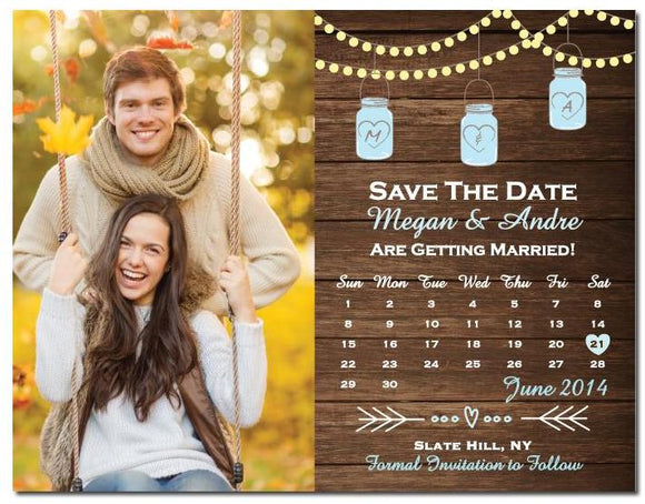 Mason Jar Save The Date String Light Save The Date Magnet