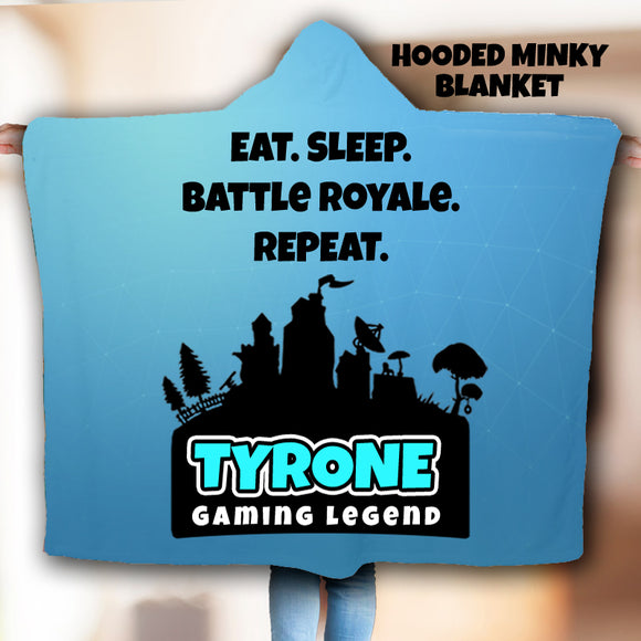 Custom Fortnite Blanket Custom Fortnite Gift Hooded Blanket