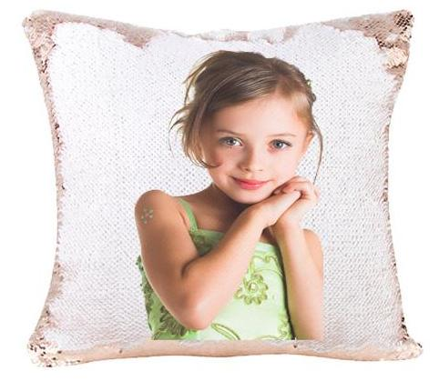 Custom Photo Mermaid Pillow Photo Sequin Pillow Sensory Pillow