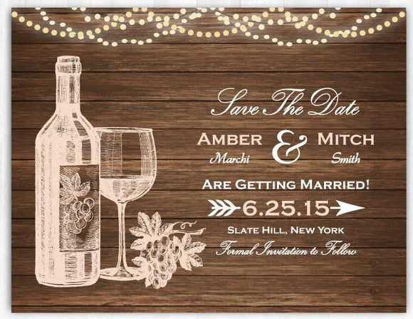 Winery Save The Date Vineyard Save The Date Wine