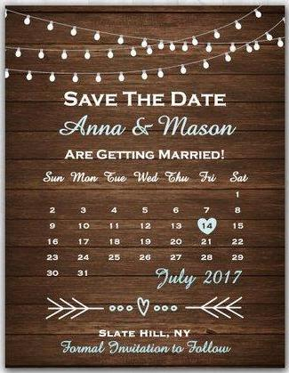 Rustic Save The Date Country Wood Save The Date