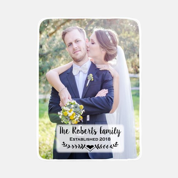 Custom Photo Blanket Personalized Photo Blanket Wedding Gift