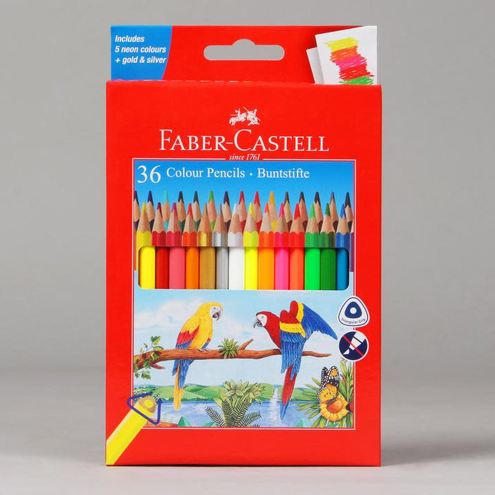 Faber-Castell 12 Colour Pencil (Pack of 12 Grip Pencils)