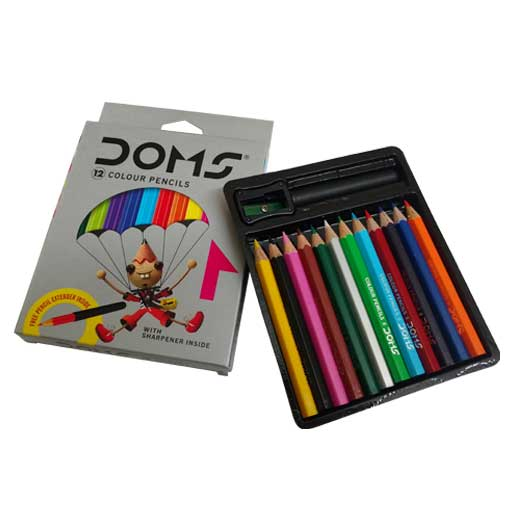 Doms 12 Color Pencils ( Small Pack )