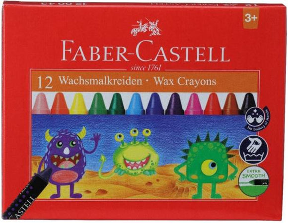 Faber-Castell Set Of 12 Wax Crayons (Extra Smooth)