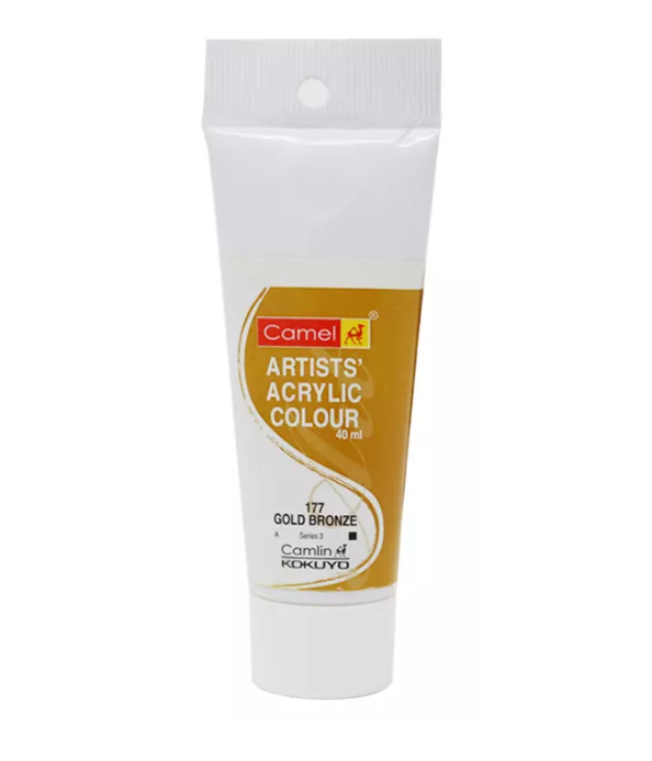 Camel Artists Acrylic Colour (40ml)- Gold Bronze (177)