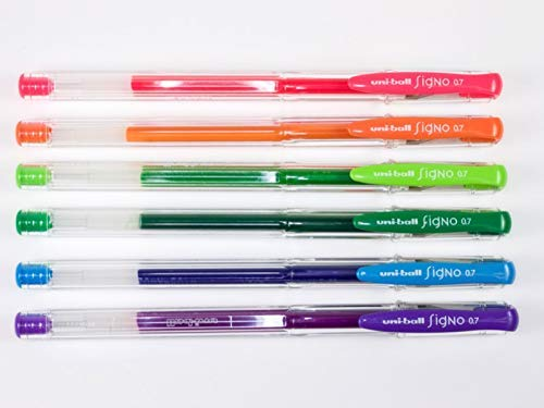 Uni-ball Signo 0.7 Roller ball pens ( Set of 8 colours )