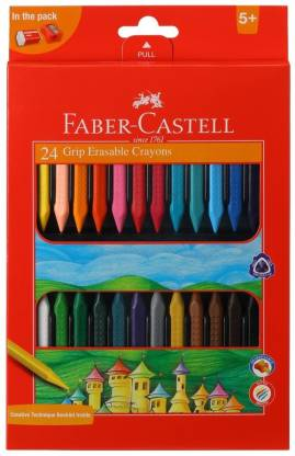 Faber-Castell 24 Grip Erasable Crayons