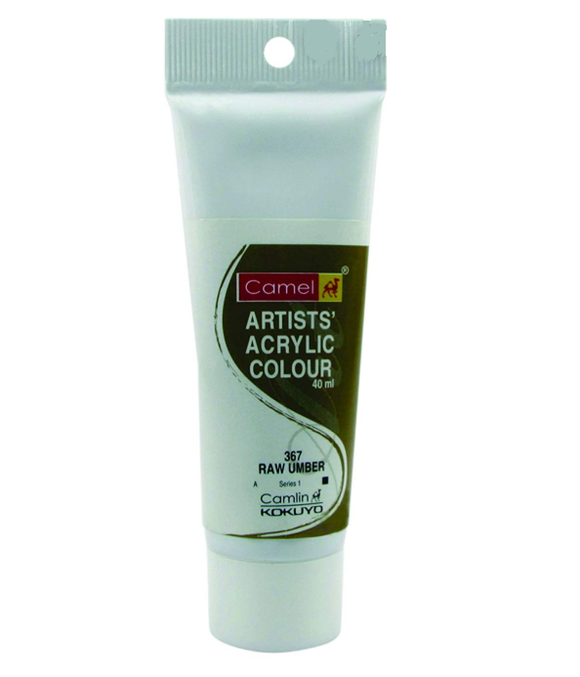 Camel Artists Acrylic Colour (40ml)- Raw Umber (367)