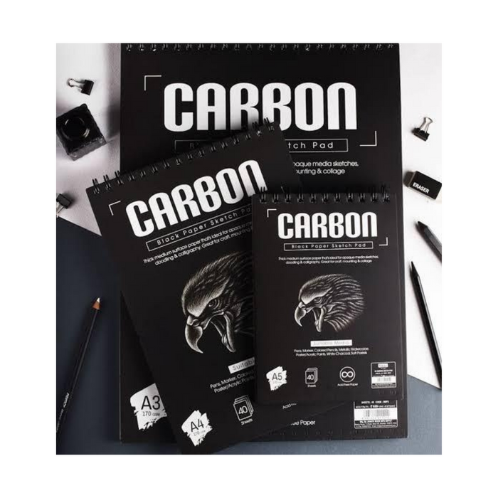 Carbon Black Paper sketch pad