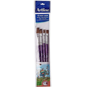 Artline Flat paint brush- Set of 4 (Size 1,2,4 & 6)