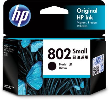 HP 802 BLACK (SMALL) CARTRIDGE