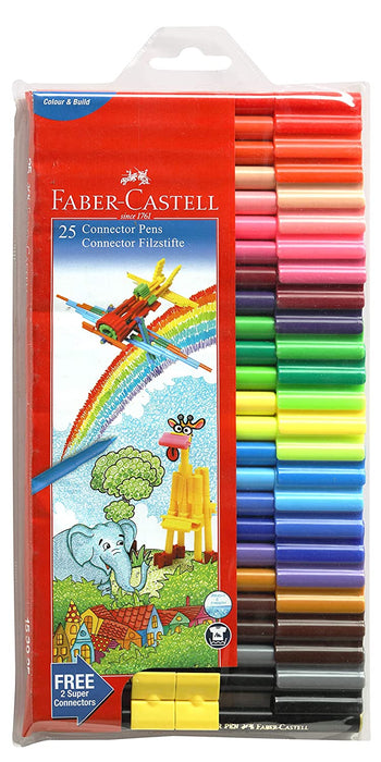 Faber-Castell 25 Connector Pens in Assorted shades