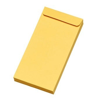 Saraswati Envelopes Plain Yellow 9x4 inches