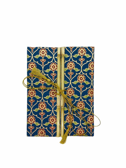 JAIPUR HAND MADE NOTEBOOK ( BAMBOO BLUE MOROCCAN )