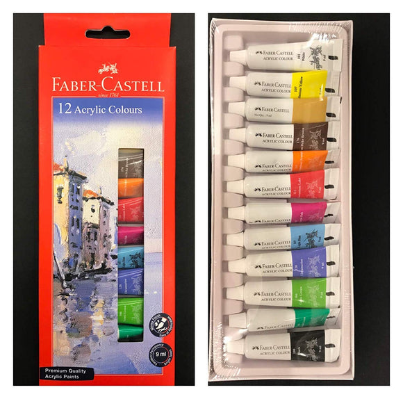 Faber-Castell Student Acrylic Colour Set - Pack of 12 (149012)