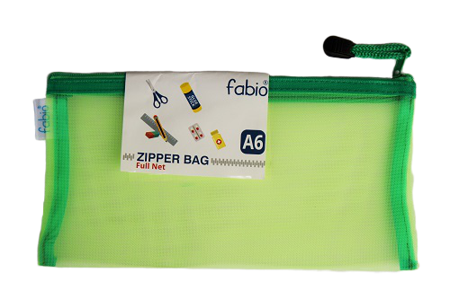 Fabio Zipper Bag- Pack of 5 (Full net)