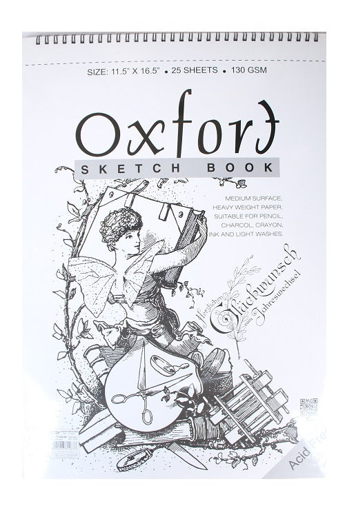 Oxfort Sketch book- (Size 11.5' x 16.5