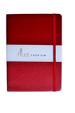 Fluct Notebook by Anupam With Elastic Closure Red A5 192 pages (Dotted-pages)