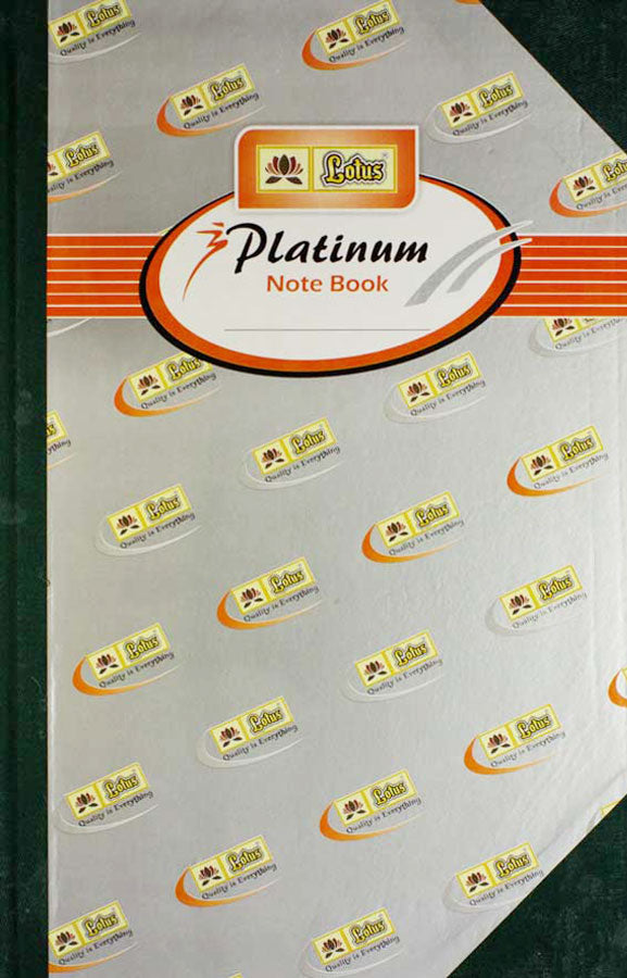 Lotus Platinum Notebook ( sturdy cover )