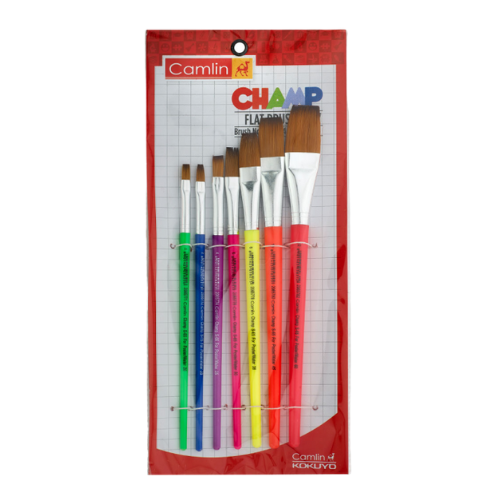 Camlin Champ Brushes- (Flat) Set of 7