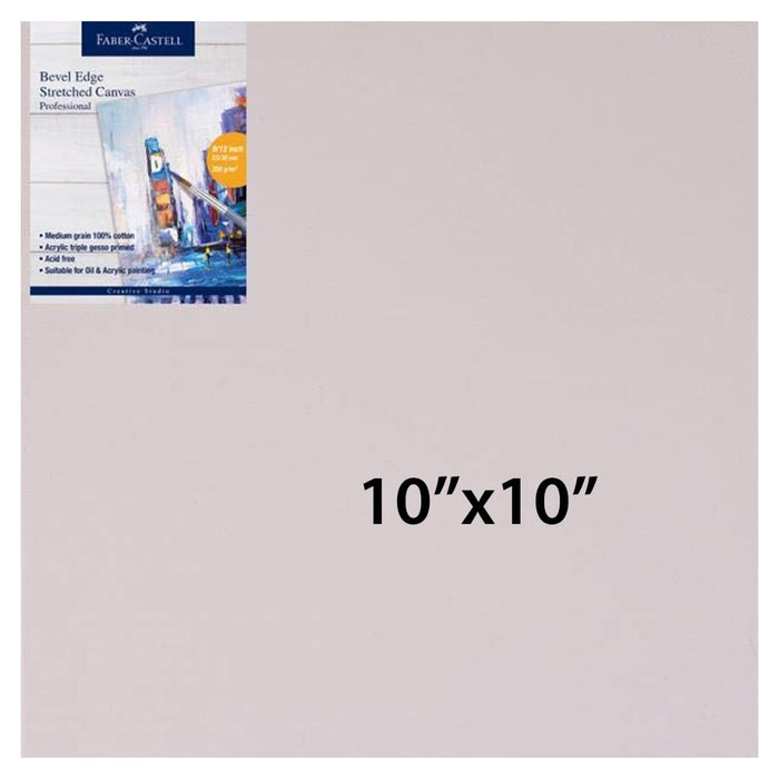 FABER-CASTELL STRETCH CANVAS 10X10