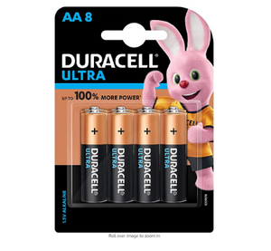 Duracell Ultra AA Cells Pack of 8 (1.5V Alkaline)