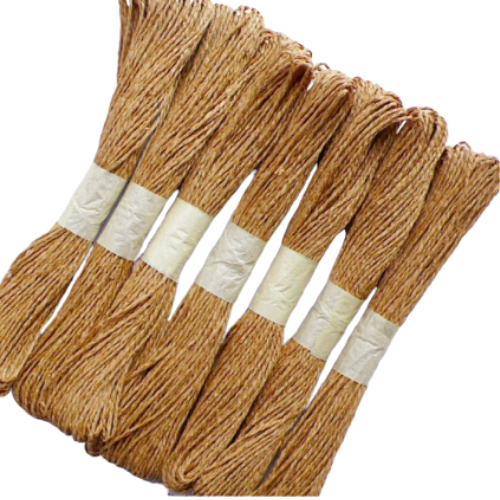 Twisted Jute Rope Threads (Natural Color)- Set of 12 Pieces