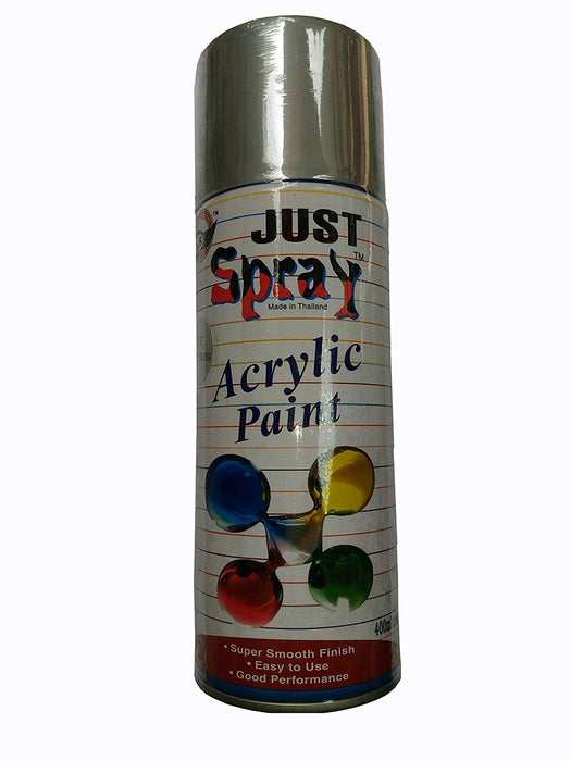 Just Spray Acrylic Paint ( 117 Bright silver)
