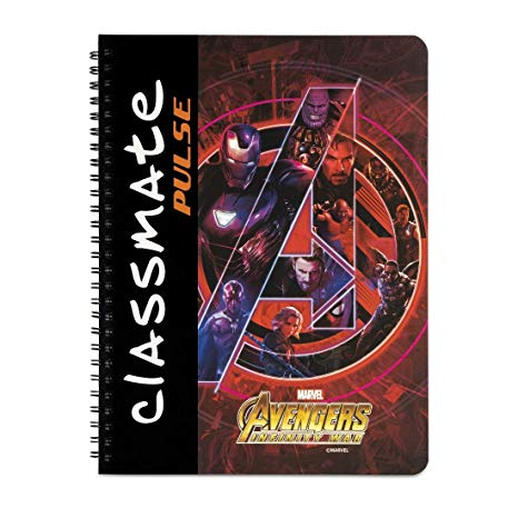 Classmate Pulse Exercise Book (spiral)- Avenger series (180 Pages) Pack of 2