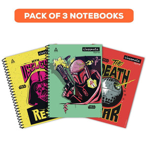 Classmate Exercise Book (spiral)- Star wars series (200 Pages) Pack of 3