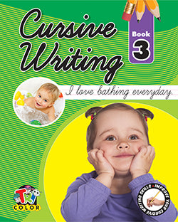 Tricolor Cursive Writing Book no. 3  (Pack of 2)