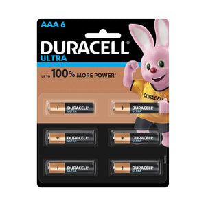 Duracell Ultra AAA Cells Pack of 6 (1.5V Alkaline)