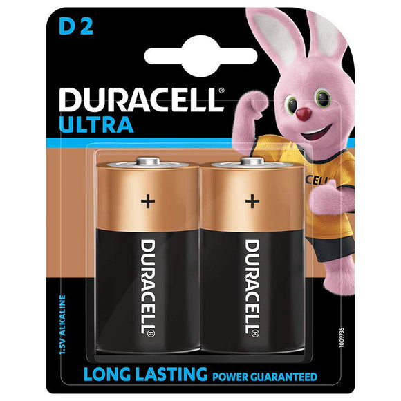 Duracell Ultra D2 Cells Pack of 2 (1.5V Alkaline)