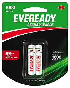 Eveready Rechargable AA 1000 Series Cells (Twin Pack)