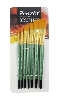Fine Art flat brushes- Set of 7