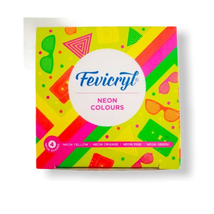 Fevicryl Neon Colours,Box of 4 Shades